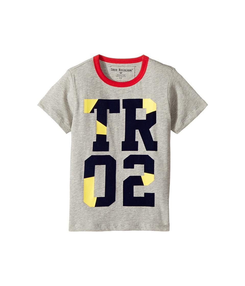 True Religion Kids - Blocked Tee Shirt (Toddler/Little Kids) (Heather Grey) Boy's T Shirt