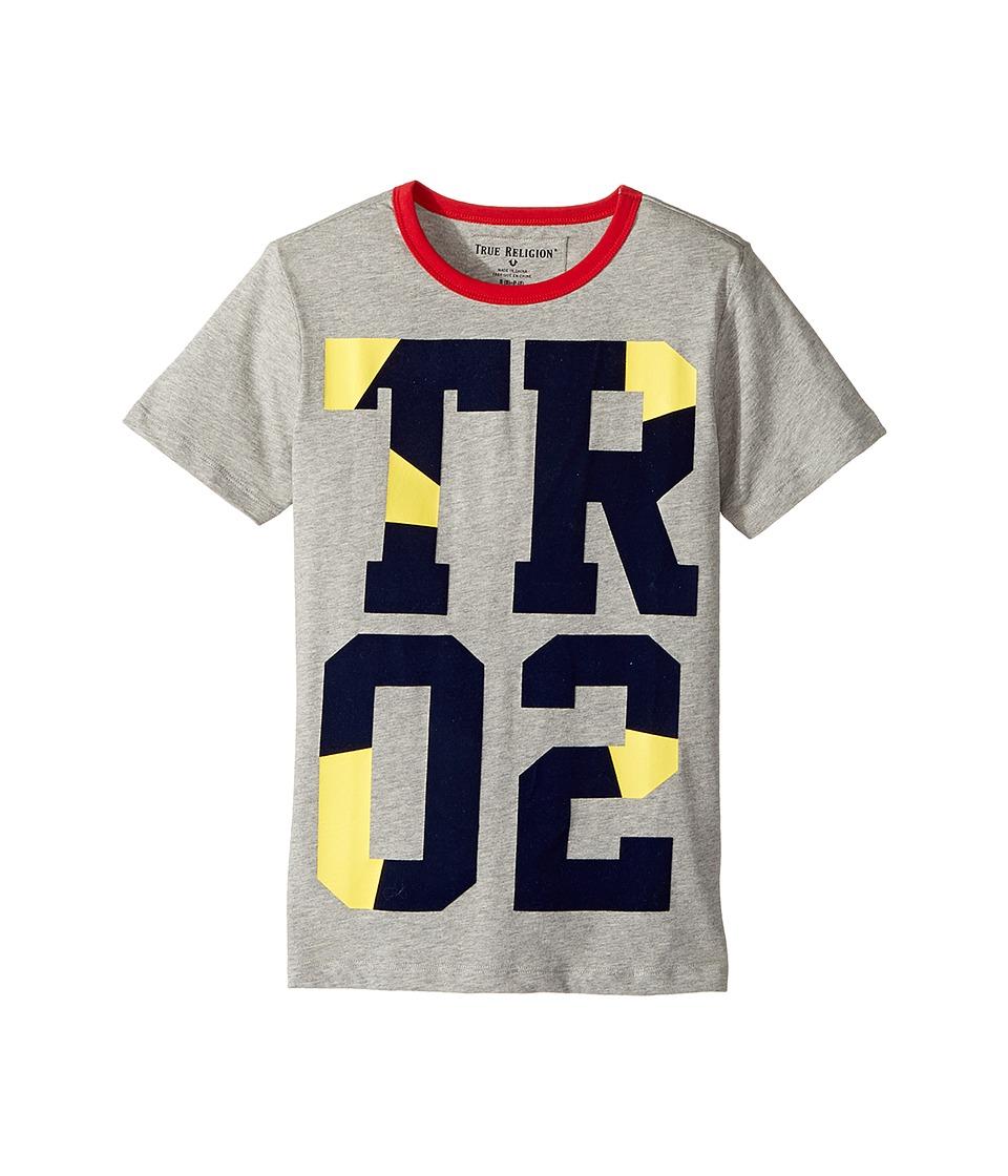True Religion Kids - Blocked Tee Shirt (Big Kids) (Heather Grey) Boy's T Shirt