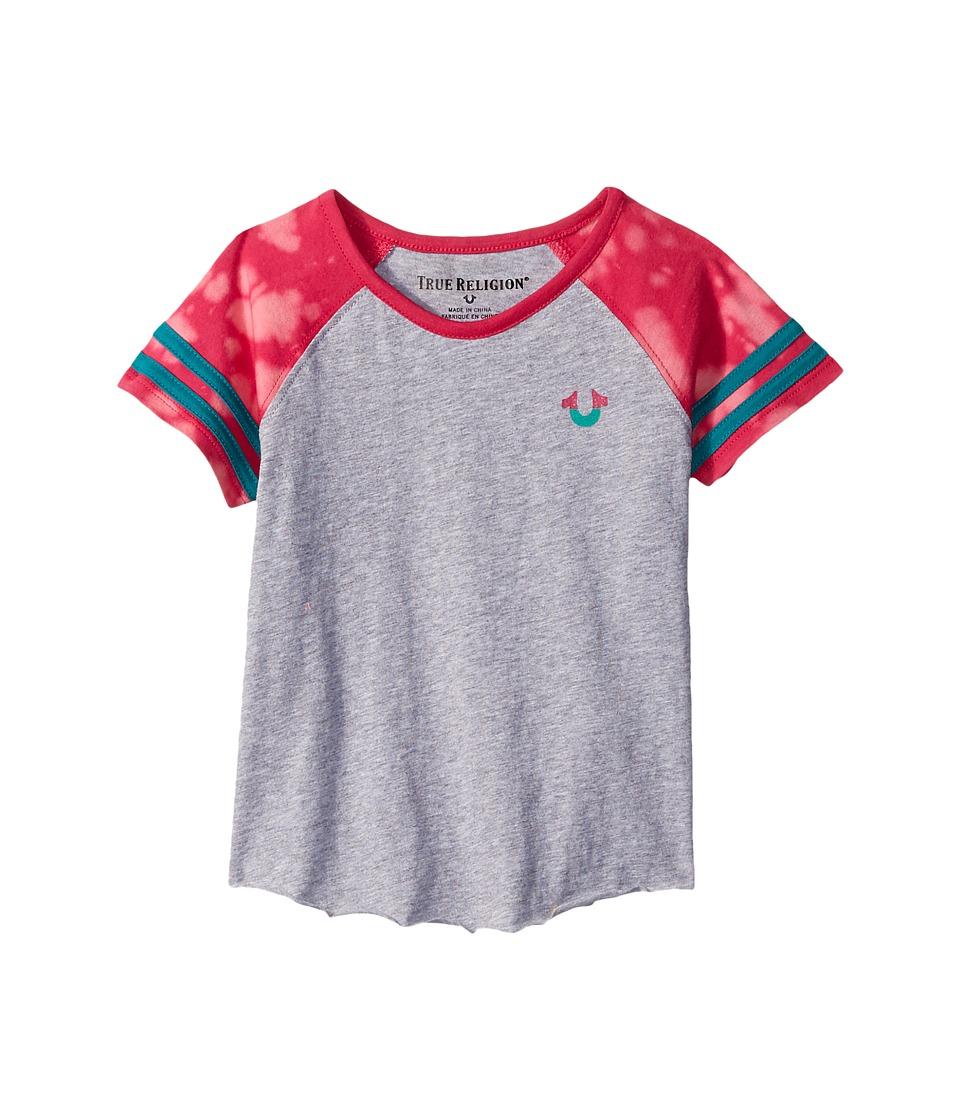 True Religion Kids - Football Tee Shirt (Toddler/Little Kids) (Heather Grey) Girl's T Shirt