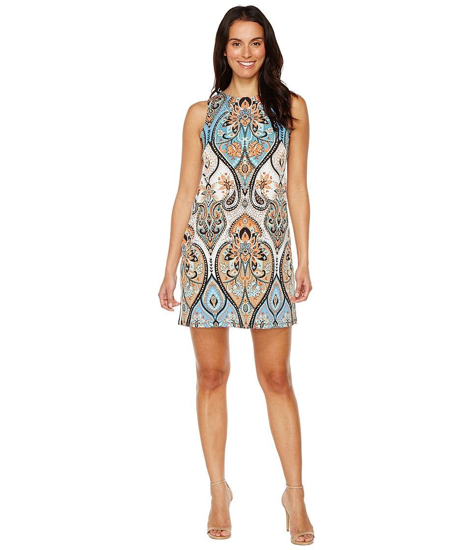 London Times - Star Paisley Sleeveless Shift (Blue Multi) Women's Dress