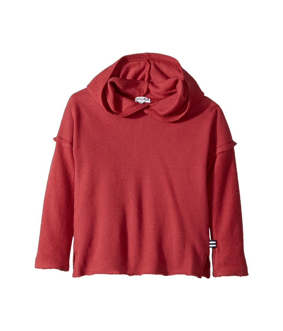 Splendid Littles - Hoodie with Reversible Fabric (Toddler) (Red) Boy's Sweatshirt