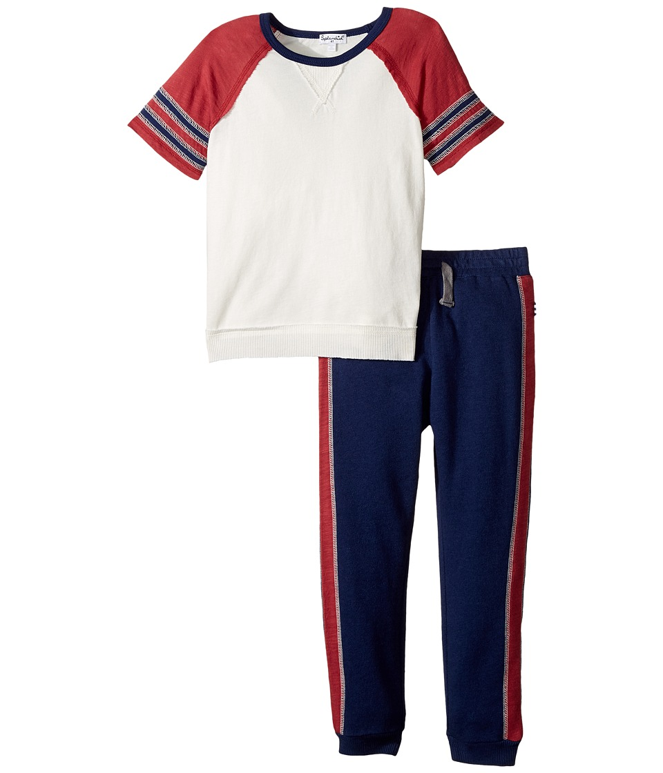 Splendid Littles - Raglan Tee and Pants Set (Toddler) (Off-White) Boy's Active Sets