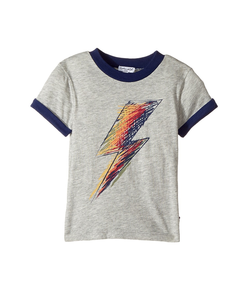 Splendid Littles - Lightning Bolt Screen Tee (Infant) (Grey Heather) Boy's T Shirt