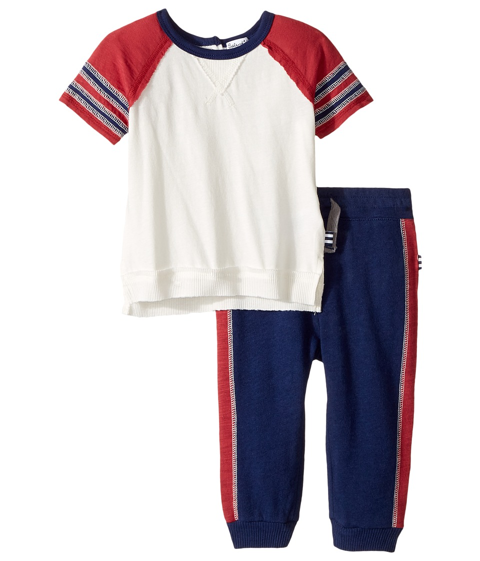 Splendid Littles - Raglan Tee and Pants Set (Infant) (Off-White) Boy's Active Sets