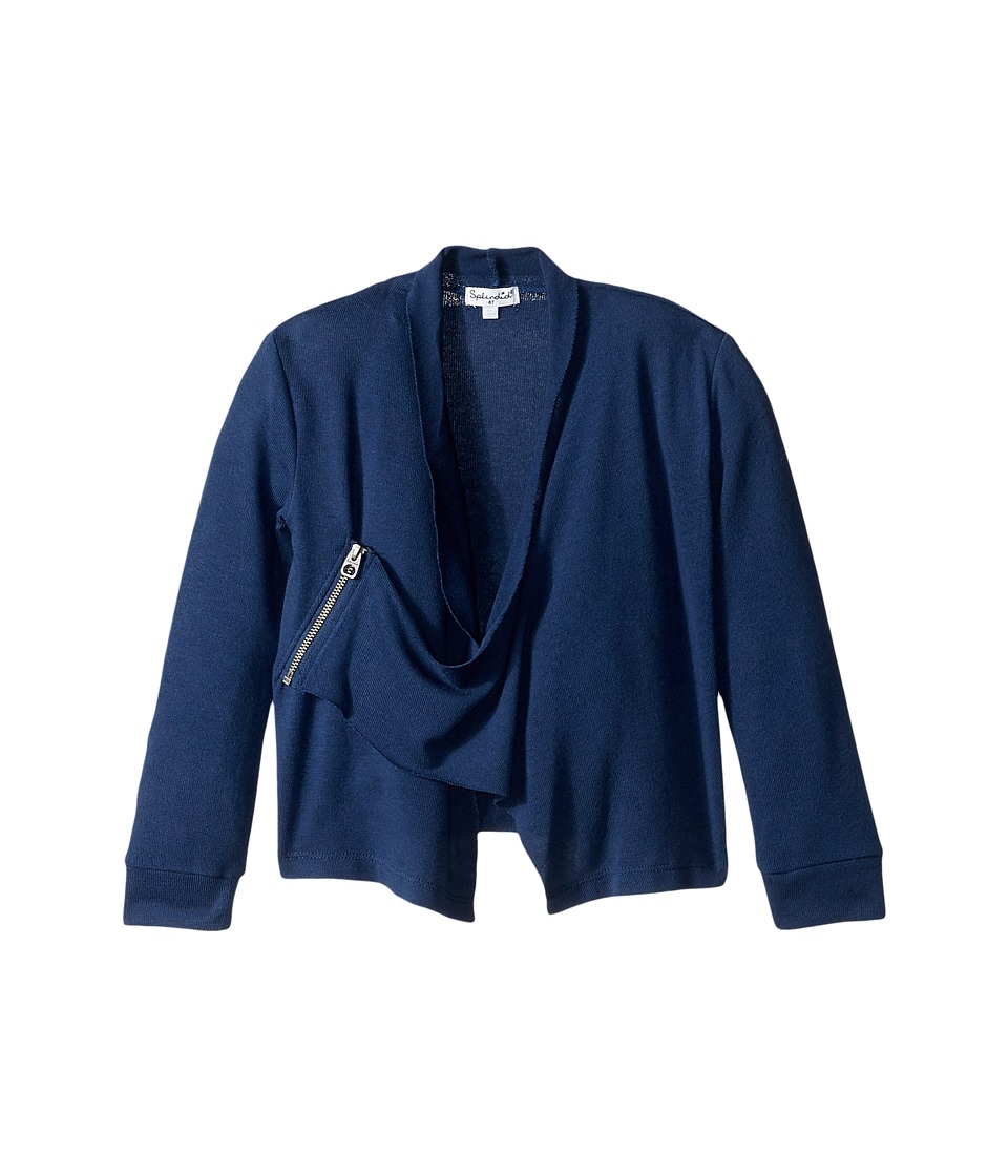 Splendid Littles - Sweater Wrap (Little Kids) (Navy) Girl's Sweater