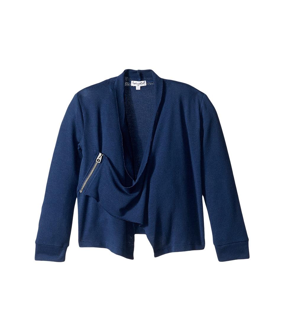 Splendid Littles - Sweater Wrap (Toddler) (Navy) Girl's Sweater