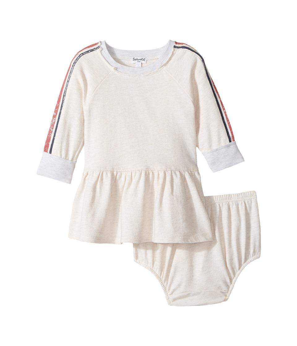 Splendid Littles - Speckle Baby French Terry Sweatshirt Dress (Infant) (Oatmeal) Girl's Dress