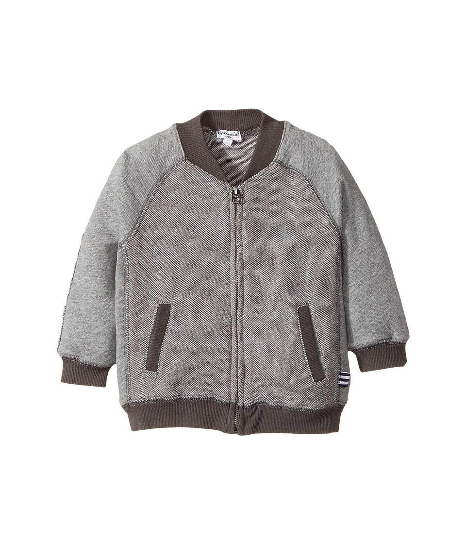 Splendid Littles - Birdseye Knit Zip-Up Jacket (Infant) (Grey) Boy's Coat