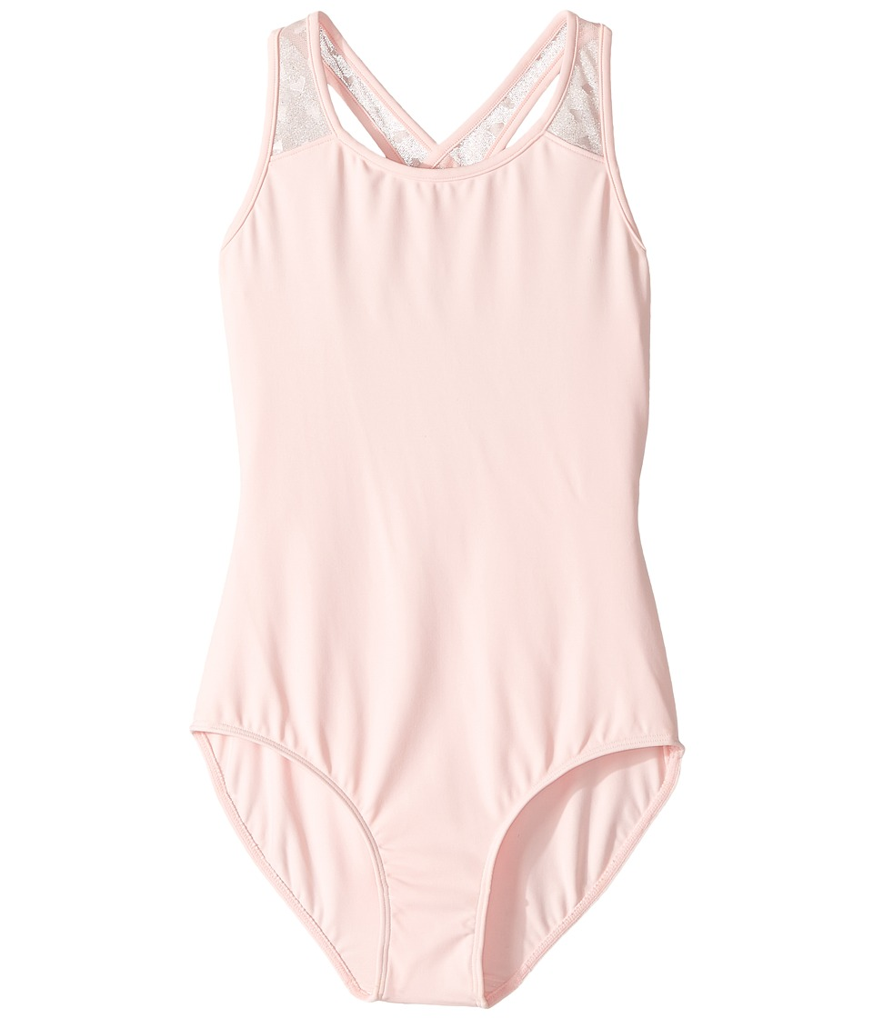 Bloch Kids - Hearts Cross-Back Leotard (Toddler/Little Kids/Big Kids) (Candy Pink) Girl's Jumpsuit & Rompers One Piece