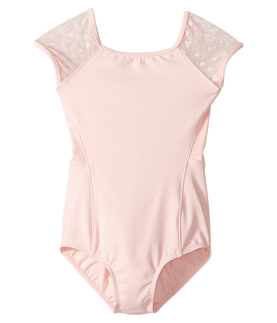 Bloch Kids - Hearts Cap Sleeve Leotard (Toddler/Little Kids/Big Kids) (Candy Pink) Girl's Jumpsuit & Rompers One Piece
