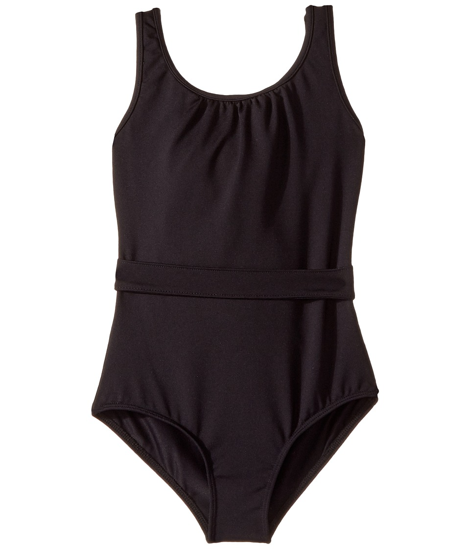 Bloch Kids - Glitter Bow Belted Leotard (Toddler/Little Kids/Big Kids) (Black) Girl's Jumpsuit & Rompers One Piece
