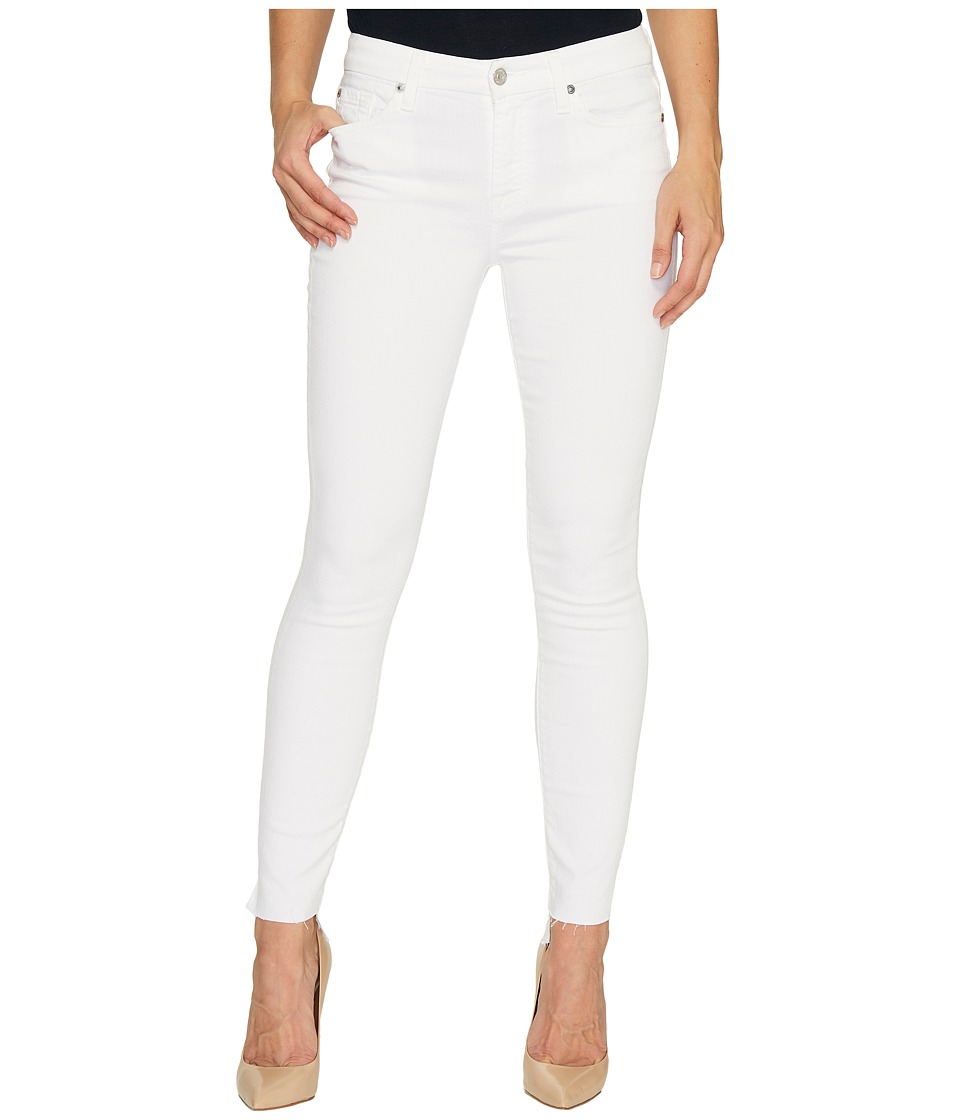 7 For All Mankind - The Skinny w/ Step Hem in Clean White (Clean White) Women's Jeans