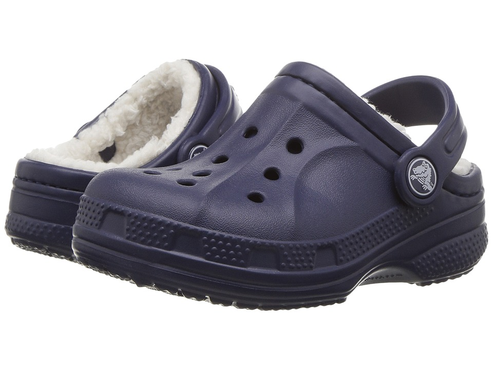 Crocs Kids - Ralen Lined Clog (Toddler/Little Kid) (Nautical Navy/Oatmeal) Kid's Shoes