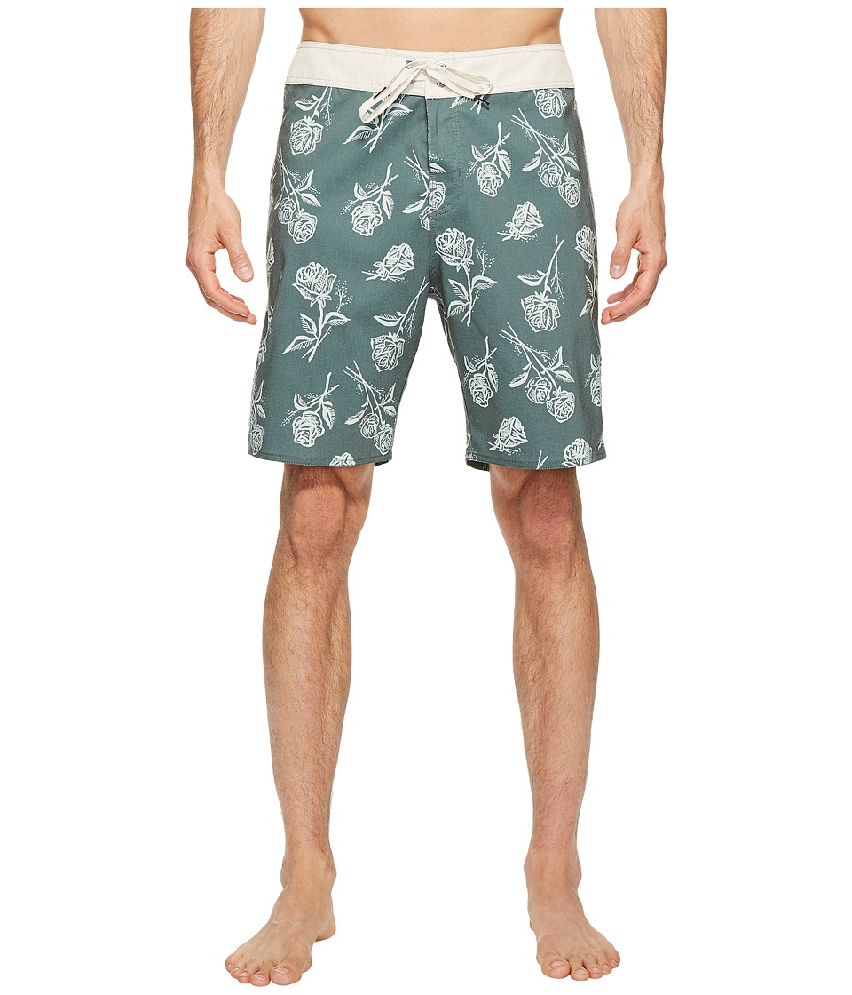 Brixton - Barge Trunks (Forest Green) Men's Swimwear