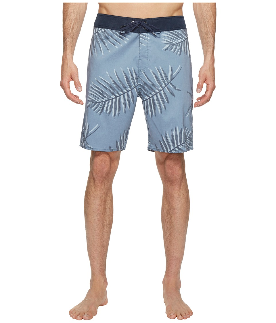 Brixton - Barge Trunks (Grey Blue) Men's Swimwear