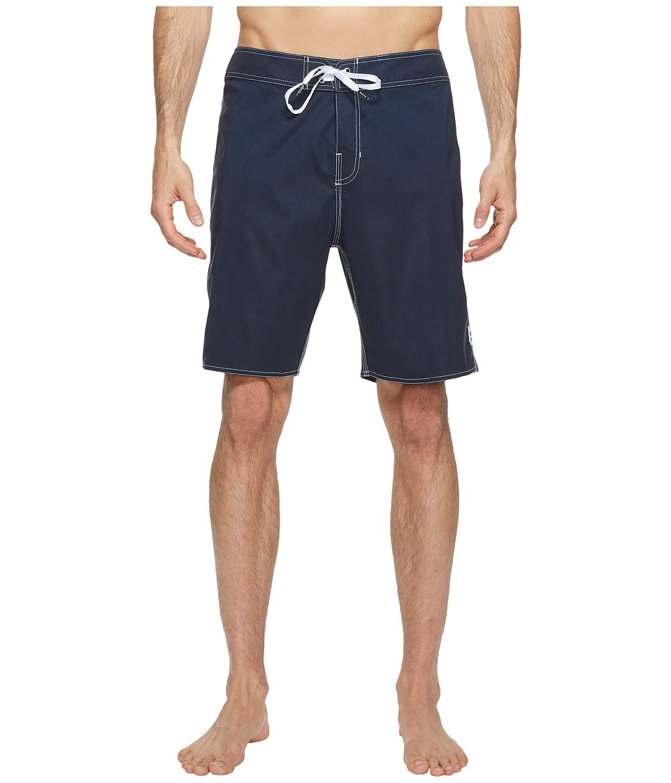 Brixton - Barge Solid Trunks (Navy) Men's Swimwear