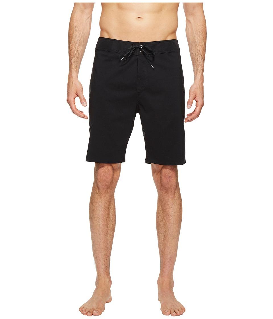 Brixton - Barge Solid Trunks (Black) Men's Swimwear