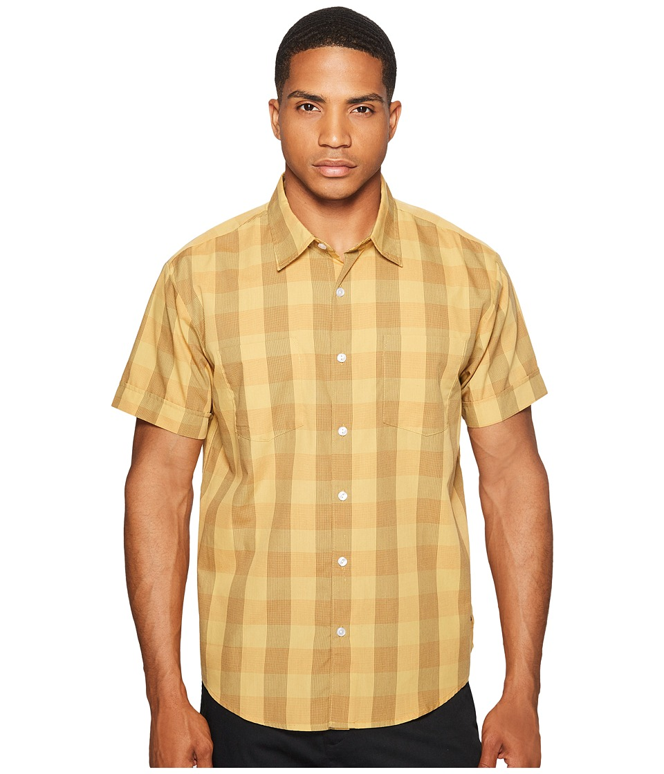 Brixton - Branson Short Sleeve Woven (Mustard) Men's Short Sleeve Button Up