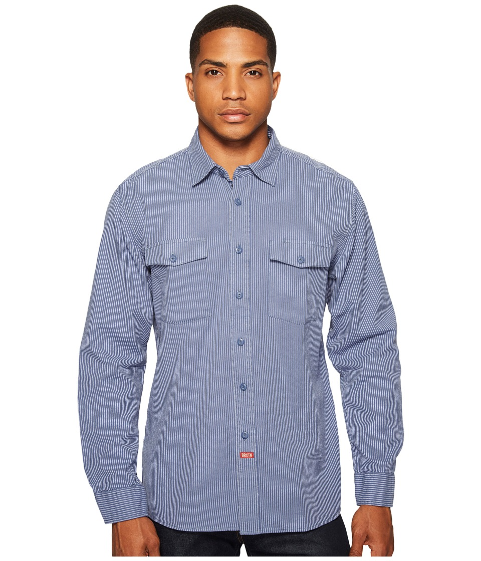 Brixton - Olson Long Sleeve Woven Shirt (Indigo) Men's Long Sleeve Button Up