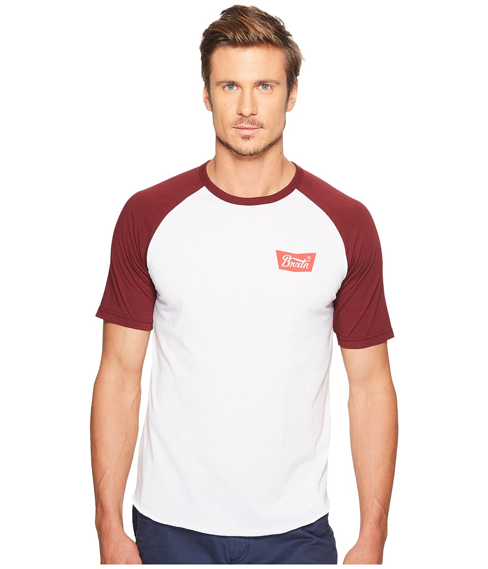 Brixton - Stith Short Sleeve Knit (White) Men's Short Sleeve Knit