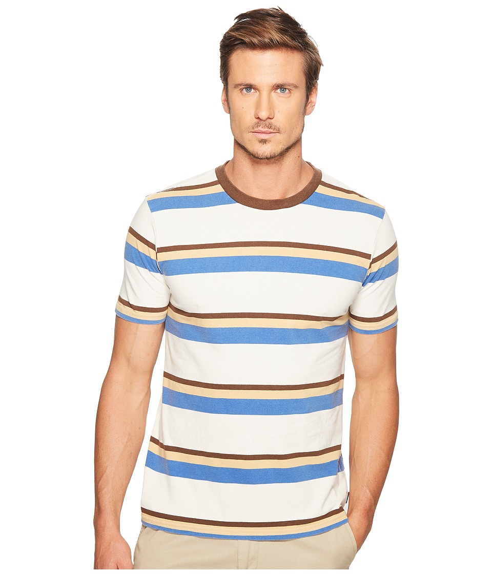 Brixton - Clive Washed Short Sleeve Knit (Off-White) Men's Short Sleeve Knit