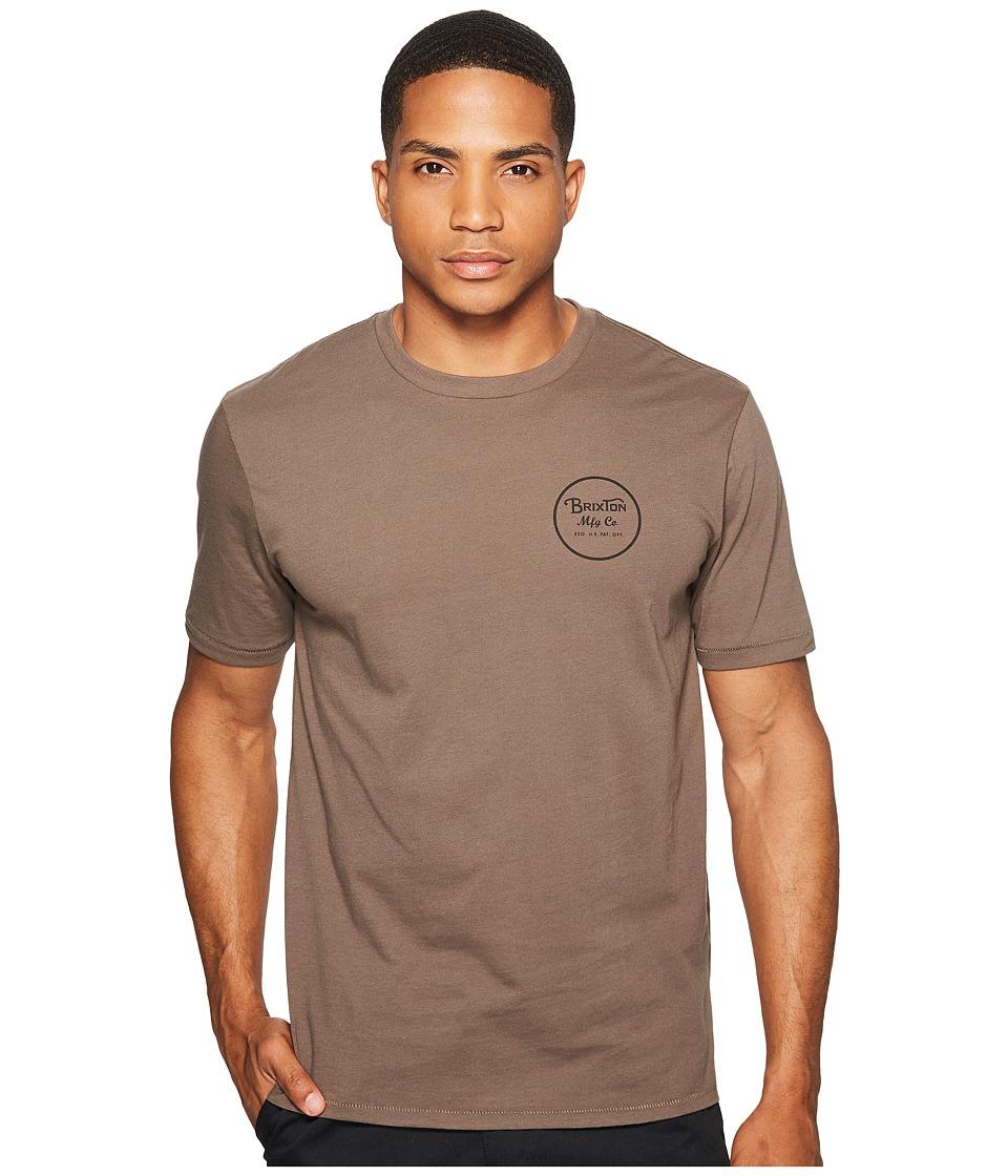 Brixton Wheeler II Short Sleeve Premium Tee (Graphite) Men