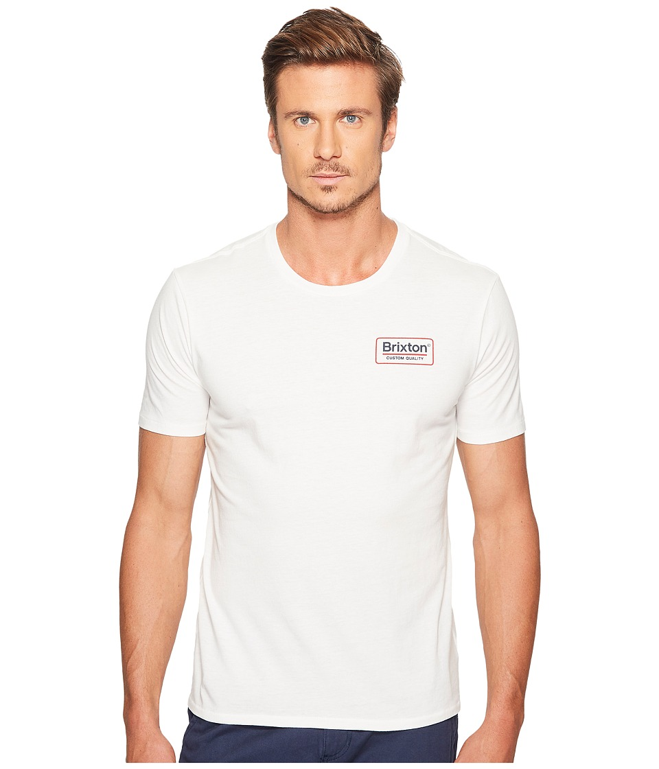 Brixton Palmer Short Sleeve Premium Tee (Off-White) Men