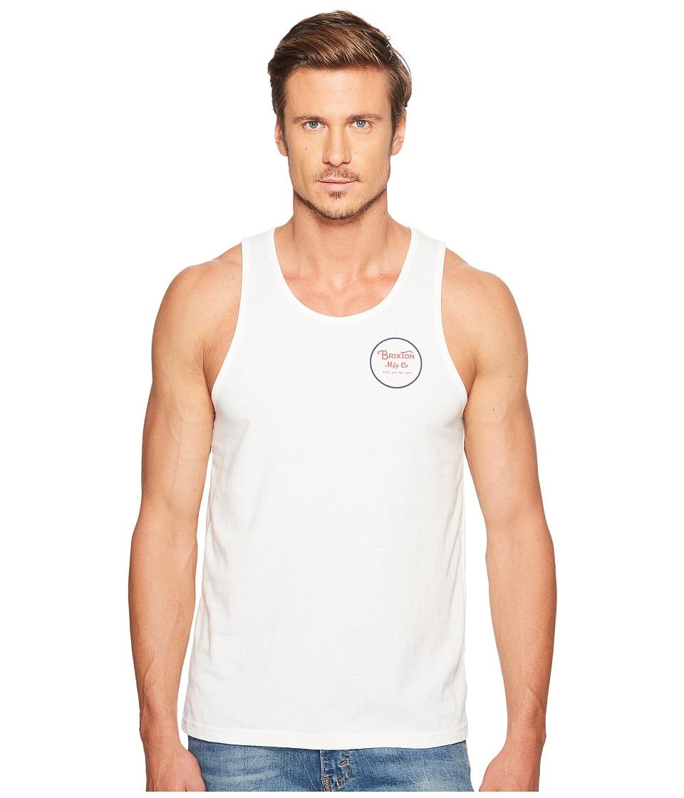 Brixton - Wheeler Tank Top (Off-White) Men's Sleeveless