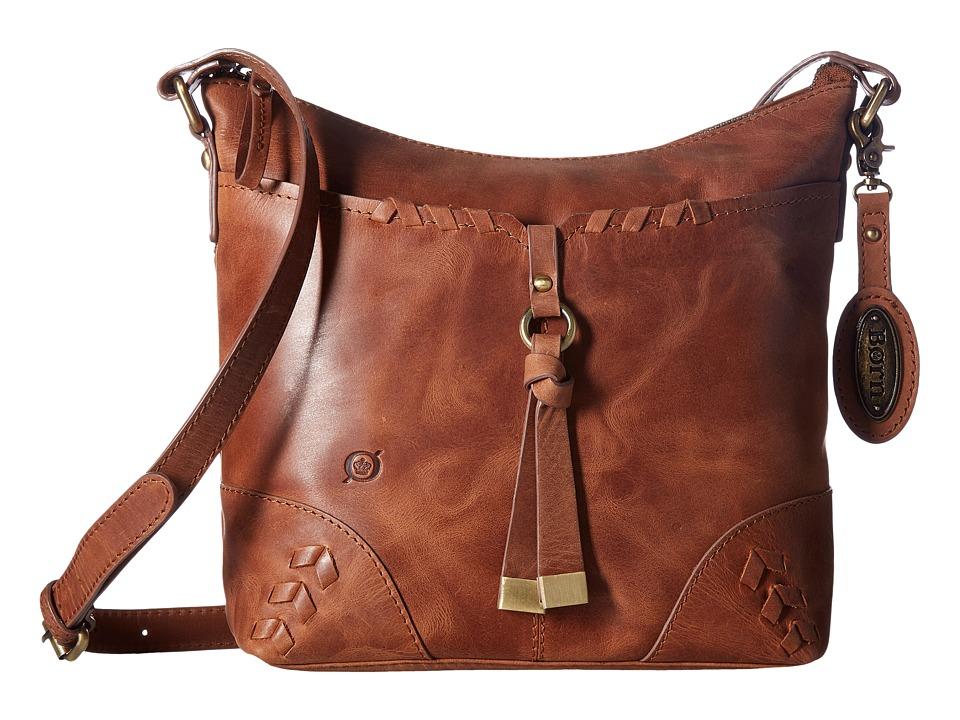 Born - Distressed Leather Crossbody (Saddle) Cross Body Handbags