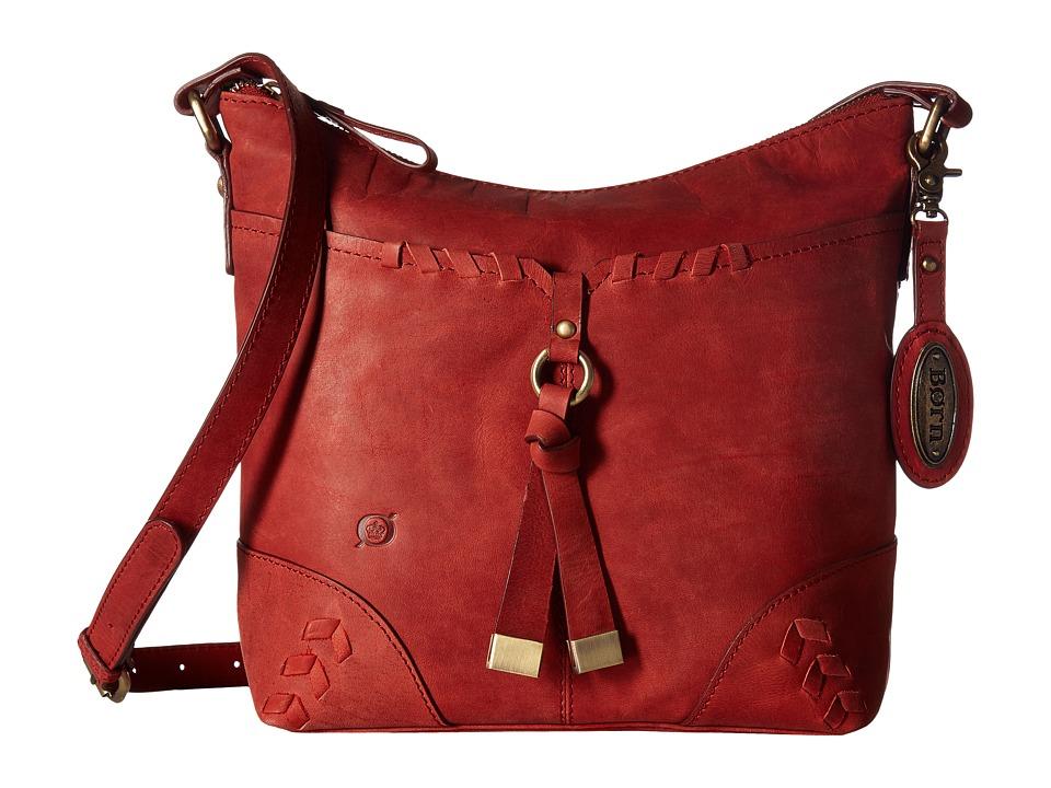 Born - Distressed Leather Crossbody (Lipstick) Cross Body Handbags
