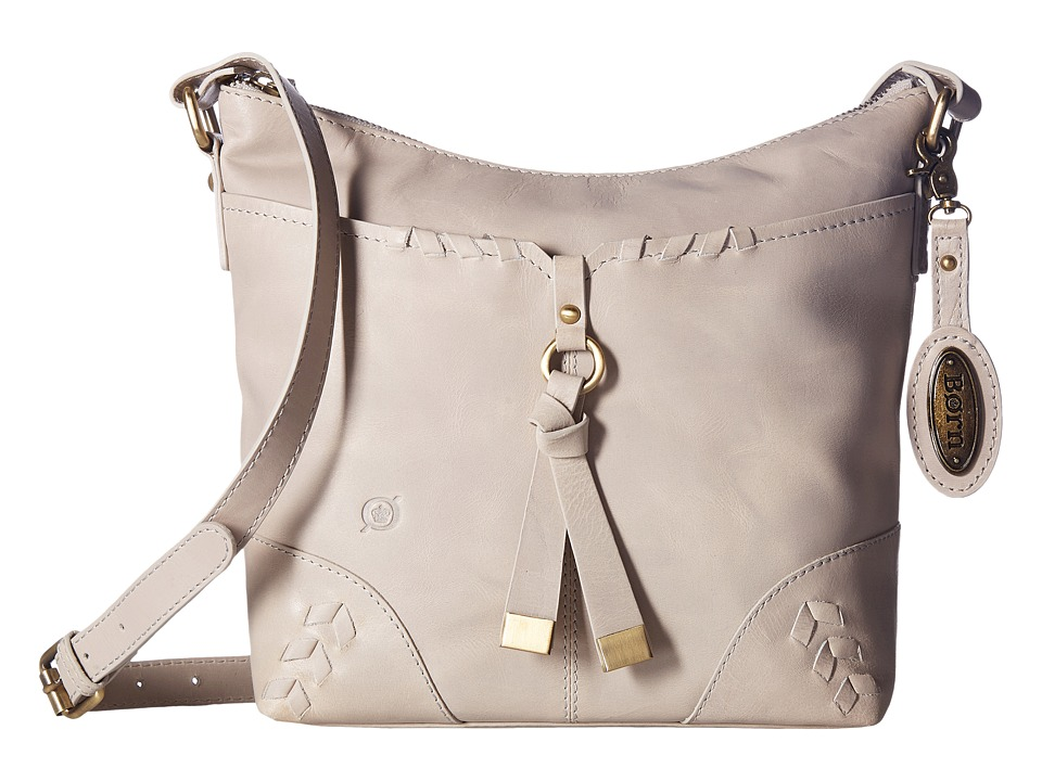Born - Distressed Leather Crossbody (Dove) Cross Body Handbags