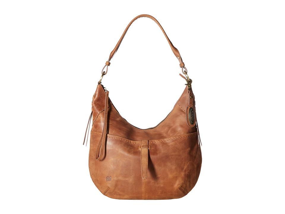 Born - Distressed Leather Cross Hobo (Saddle) Hobo Handbags