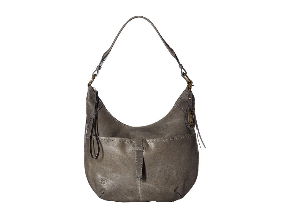 Born - Distressed Leather Cross Hobo (Elephant) Hobo Handbags