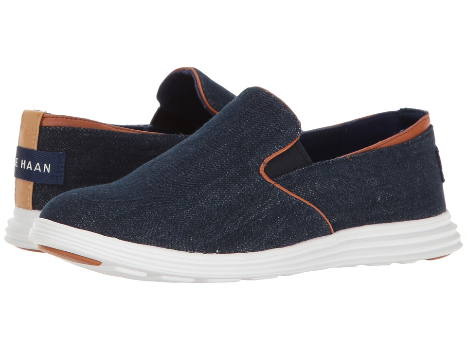 Cole Haan - Ella Grand 2 Gore Slipper (Blue) Women's Shoes