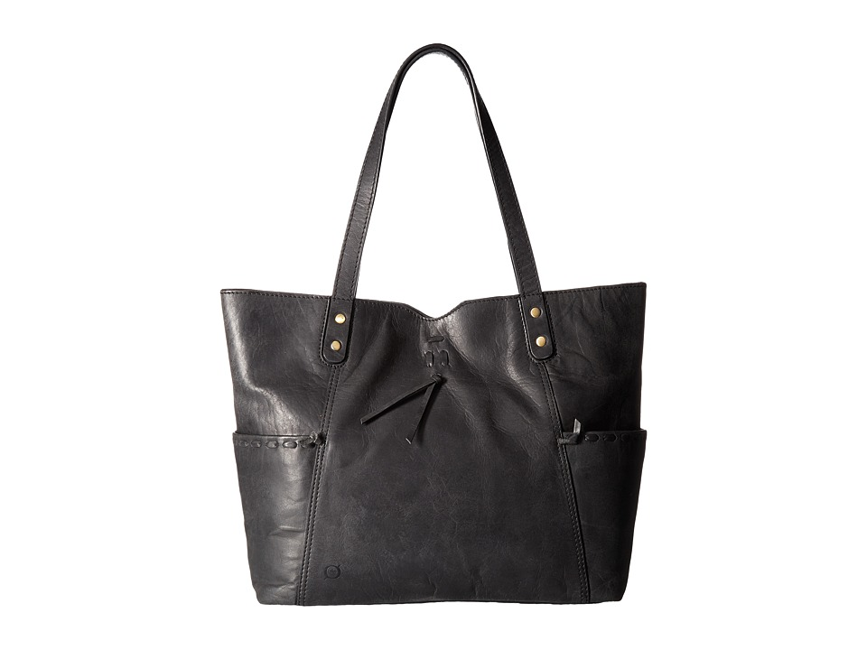 Born - Distressed Leather Tote (Black) Tote Handbags