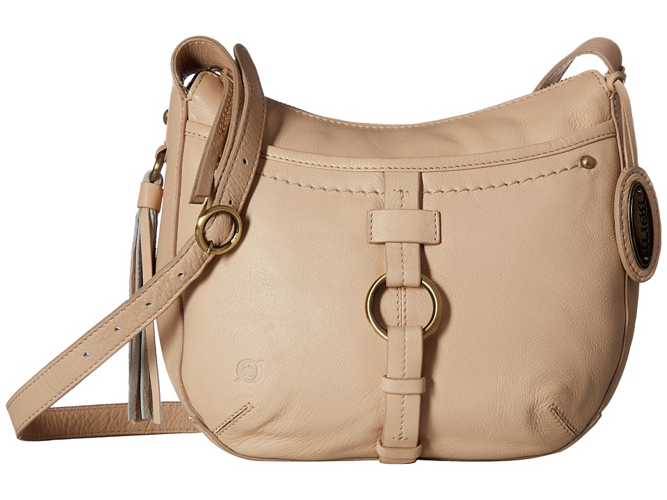 Born - Bronco Leather Crossbody (Beige) Cross Body Handbags