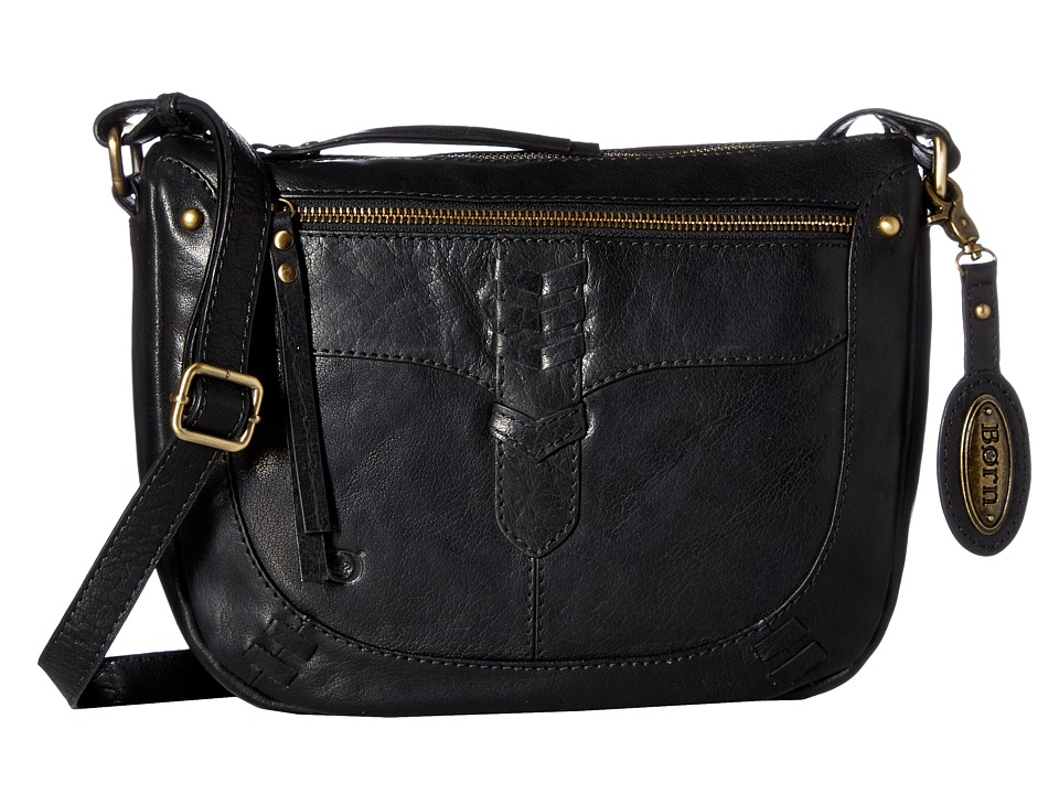 Born - Bronco Leather Crossbody (Black) Cross Body Handbags