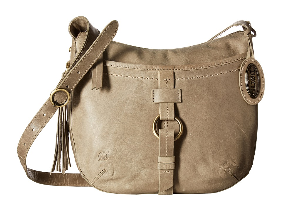 Born - Bronco Leather Crossbody (Dove) Cross Body Handbags