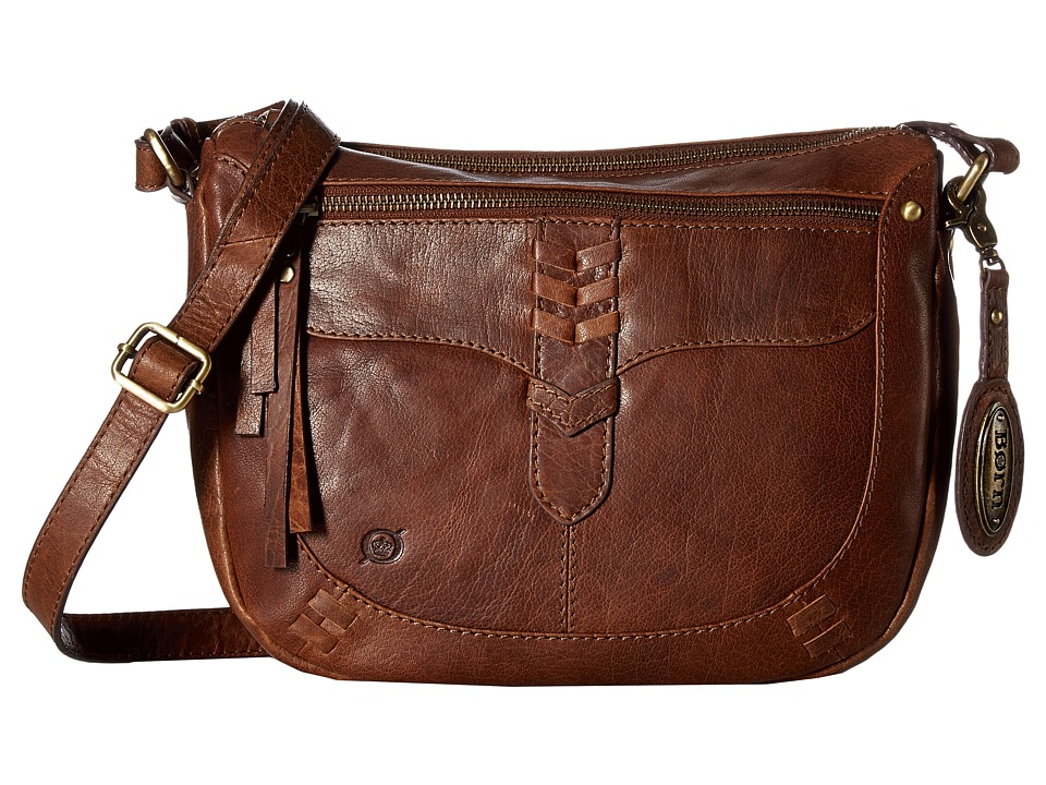 Born - Bronco Leather Crossbody (Saddle) Cross Body Handbags