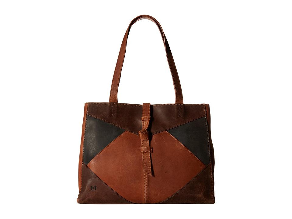 Born - Distressed Leather Tote (Saddle/Multi) Tote Handbags