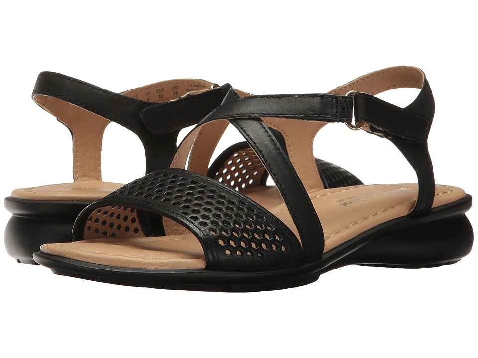Naturalizer - Juniper (Black Leather) Women's Dress Sandals