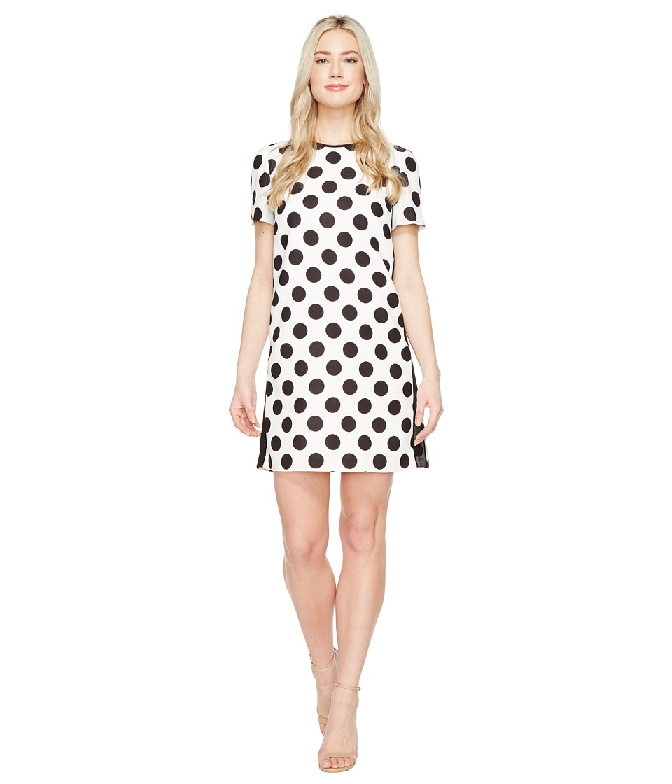 Tahari by ASL - Polka Dot Shift Dress (Ivory/Black) Women's Dress