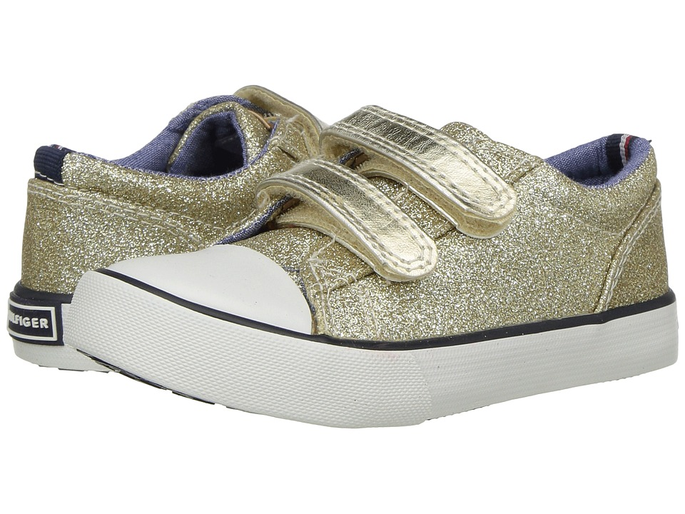 Tommy Hilfiger Kids - Cormac Core Strap (Toddler/Little Kid) (Gold Glitter) Girl's Shoes