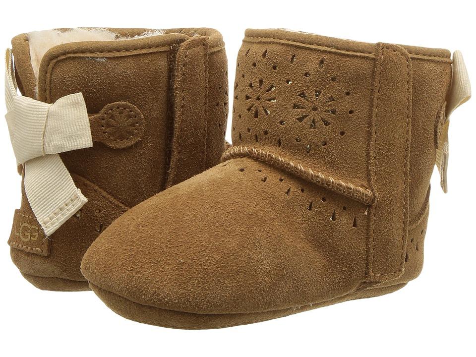 UGG Kids Jesse Bow II Sunshine Perf (Infant/Toddler) (Chestnut) Girls Shoes