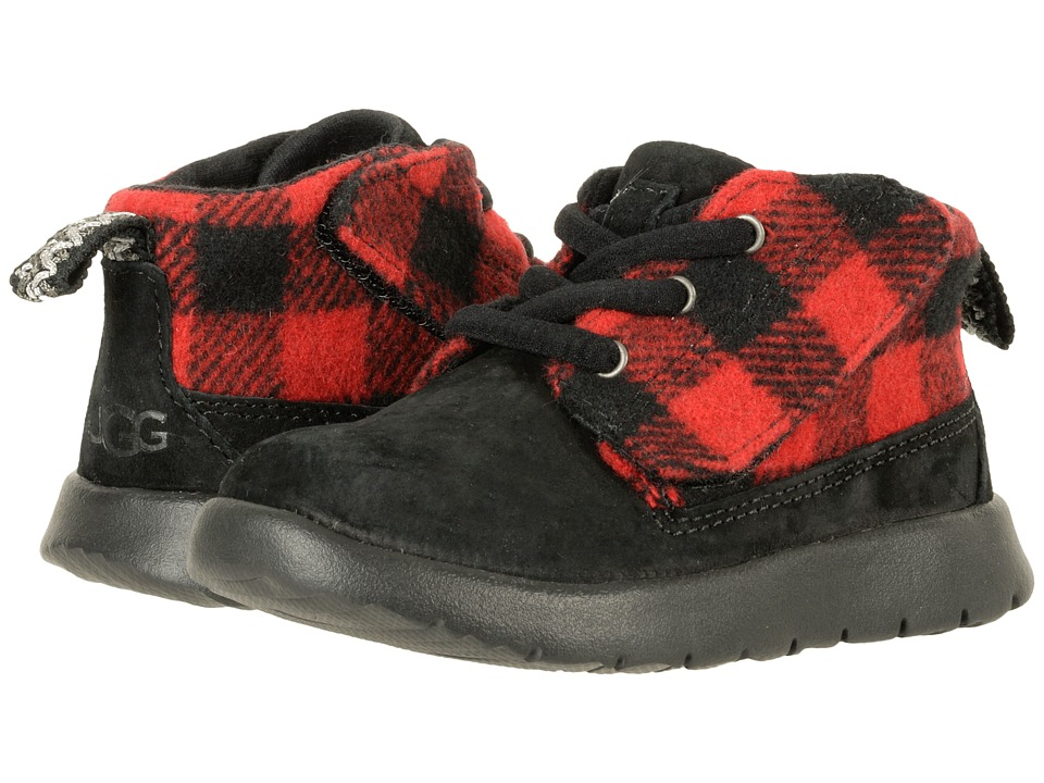 UGG Kids Canoe Plaid (Toddler/Little Kid) (Redwood) Boys Shoes