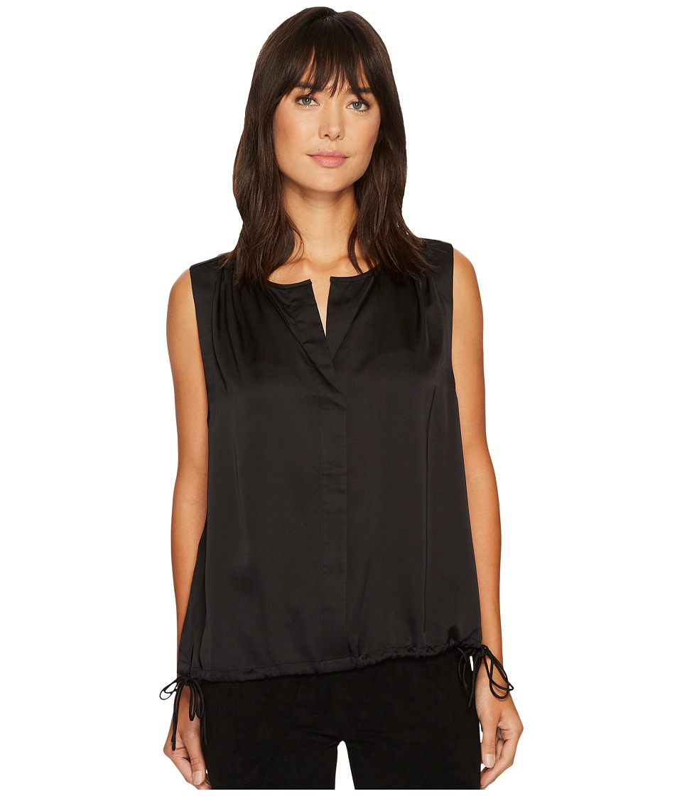 NYDJ - Sleeveless Top with Side Ties (Black) Women's Sleeveless