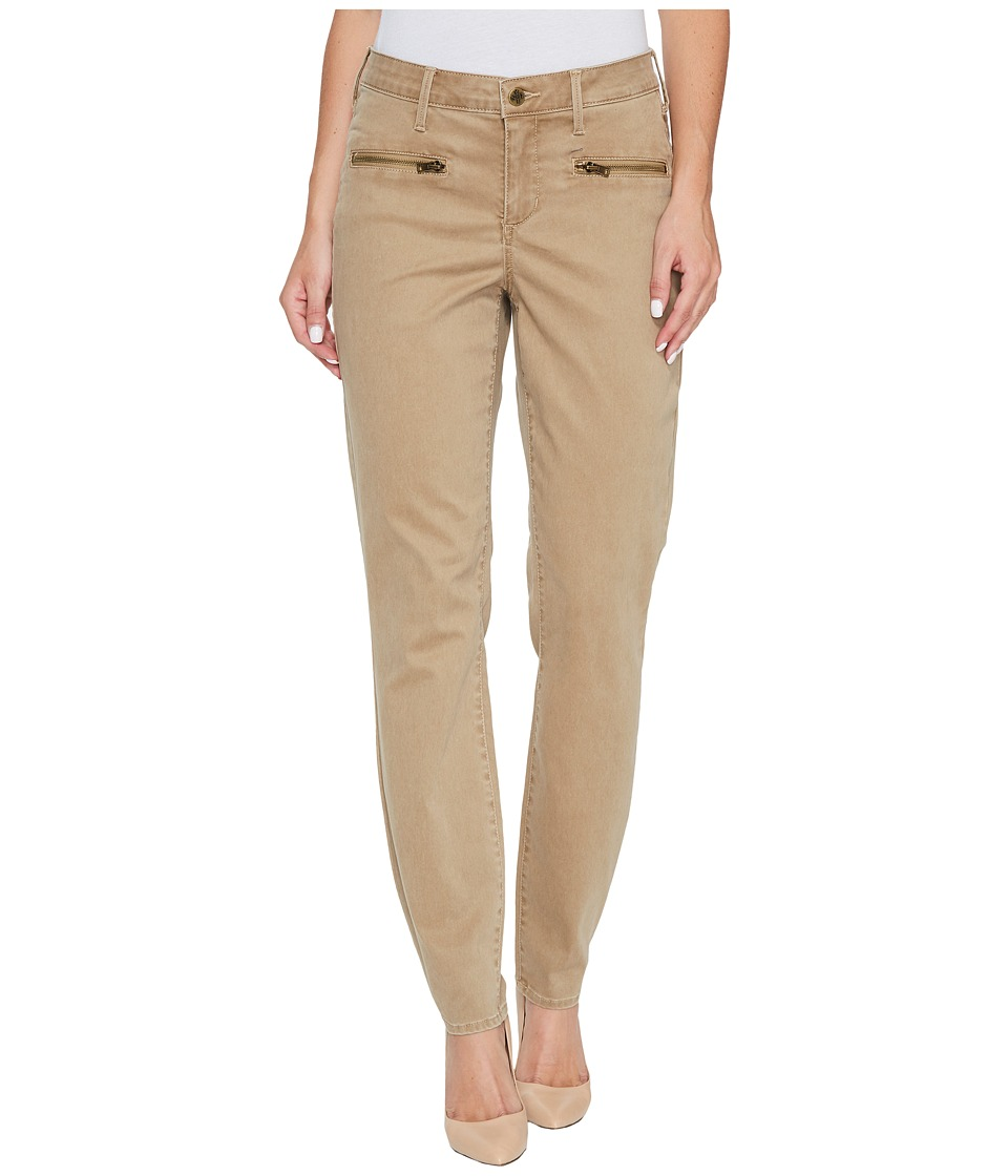NYDJ - Skinny Chino Pants w/ Zipper (Sesame) Women's Casual Pants
