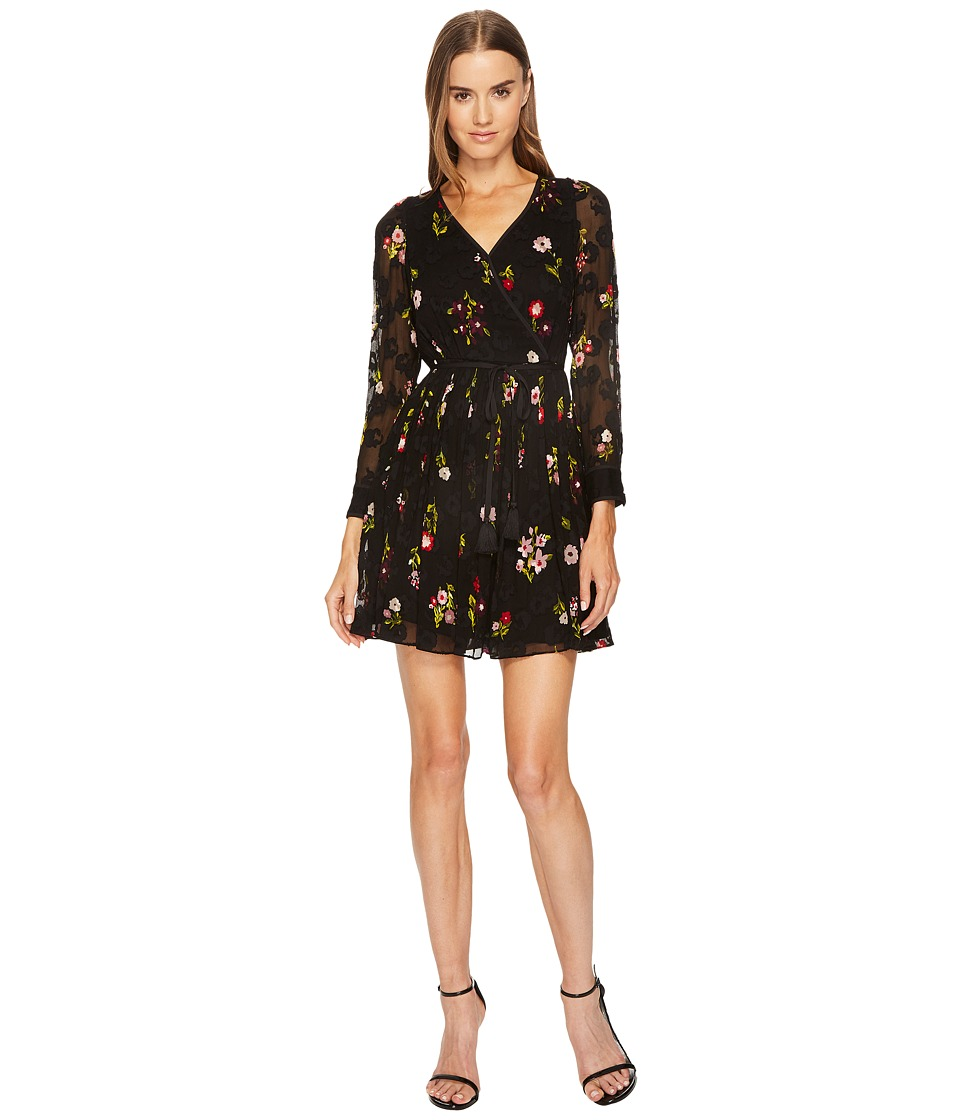 Kate Spade New York In Bloom Chiffon Mini Dress