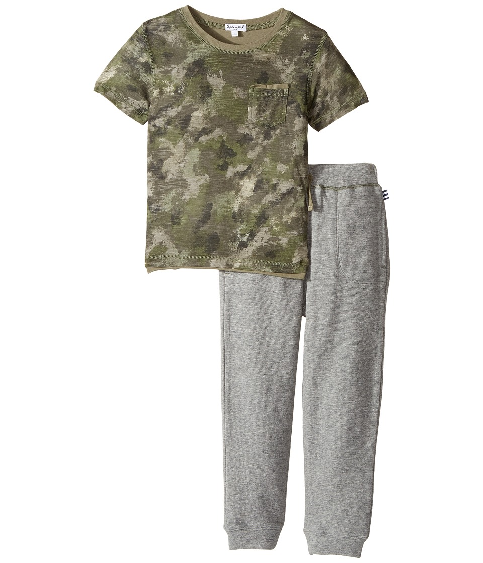 Splendid Littles - Camo Tee and Pants Set (Little Kids/Big Kids) (Camo) Boy's Active Sets