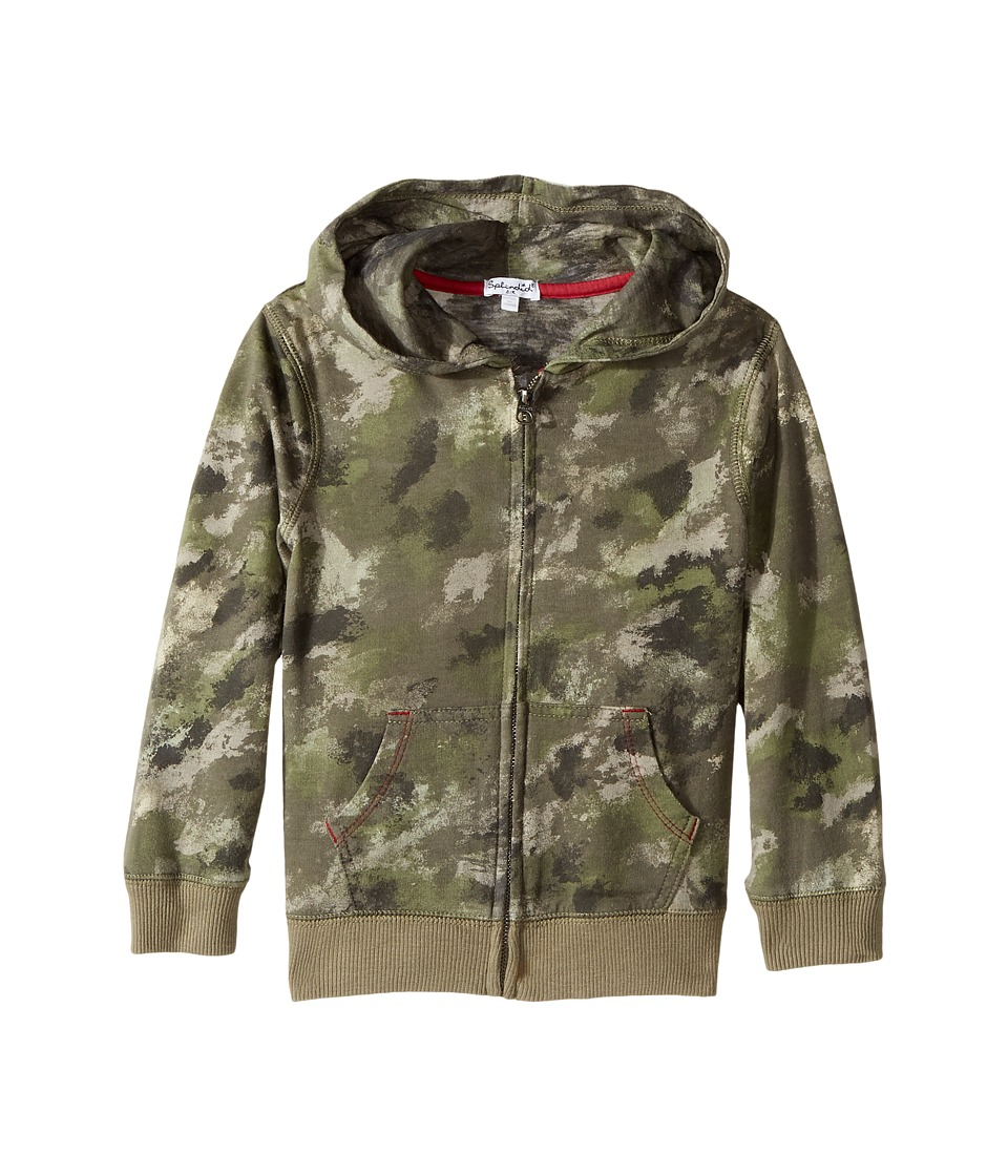 Splendid Littles - Camo Hoodie Zip-Up Jacket (Little Kids/Big Kids) (Camo) Boy's Jacket